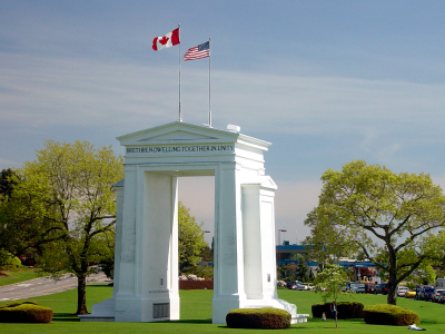 Monday's Monument: Peace Arch Park, U.S. / Canadian Border