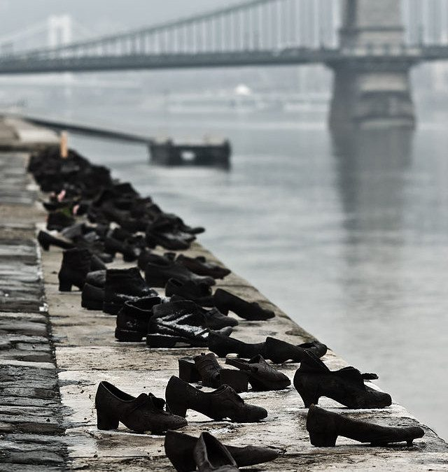 Monday's Monument: Shoes on the Danube Promenade, Budapest, Hungary