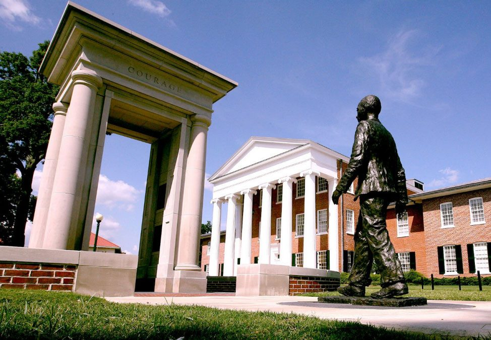 Monday's Monument: James Meredith Statue, Ol' Miss, Oxford, Mississippi