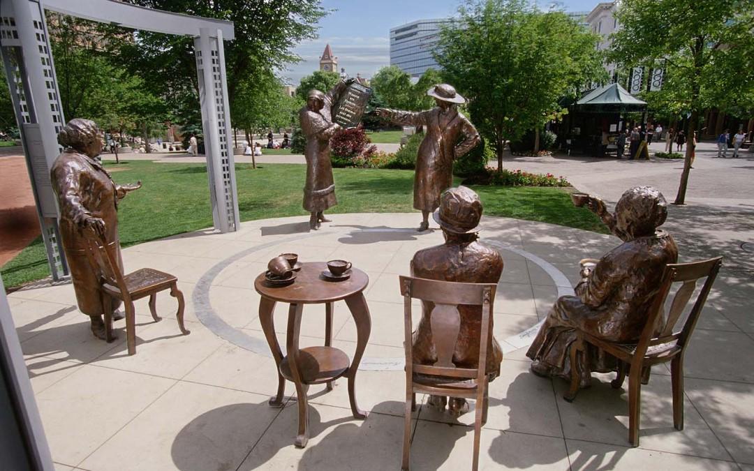 Monday's Monument: Women are Persons!, Calgary, Alberta, Canada