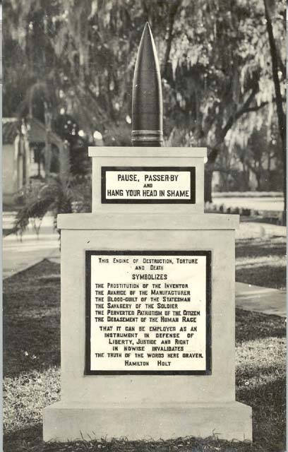 Monday's Monument: Peace Memorial, Rollins College, Winter Park, FL