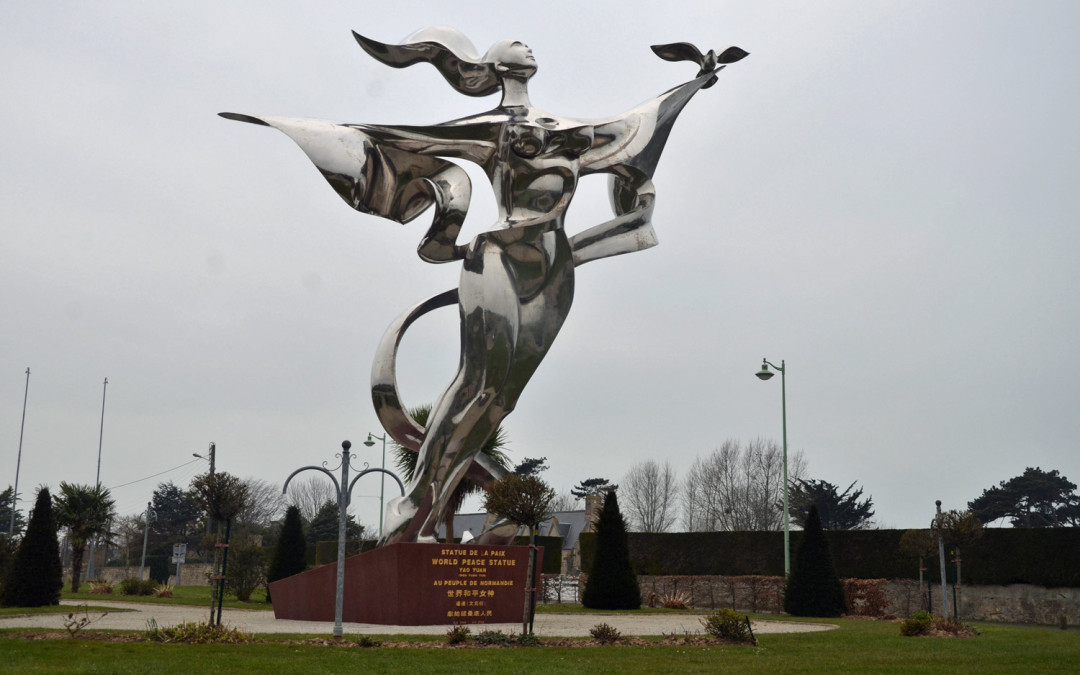 Monday's Monument: World Peace Statue, Grandcamp-Maisy, Normandy, France