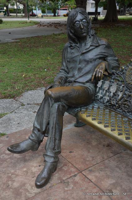 Monday's Monument: John Lennon Statue, Havana, Cuba