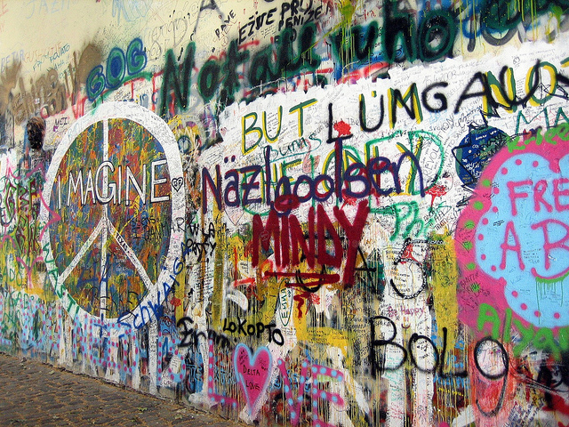 Monday's Monument: John Lennon Peace Wall, Prague, Czech Republic