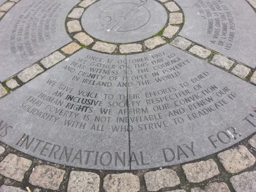 Monday's Monument: World Poverty Stone, Dublin, Ireland