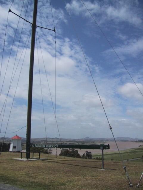 Monday's Monument: Rainbow Warrior Masts, Dargaville, New Zealand