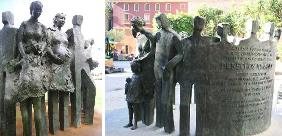 Monday's Monument: Monumento de Derechos Humanos,  Murcia, Spain