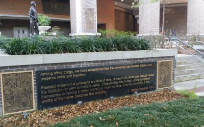 Monday's Monument: Marshall Plaza FSU Protest Commemoration Plaques, Tallahassee, Florida