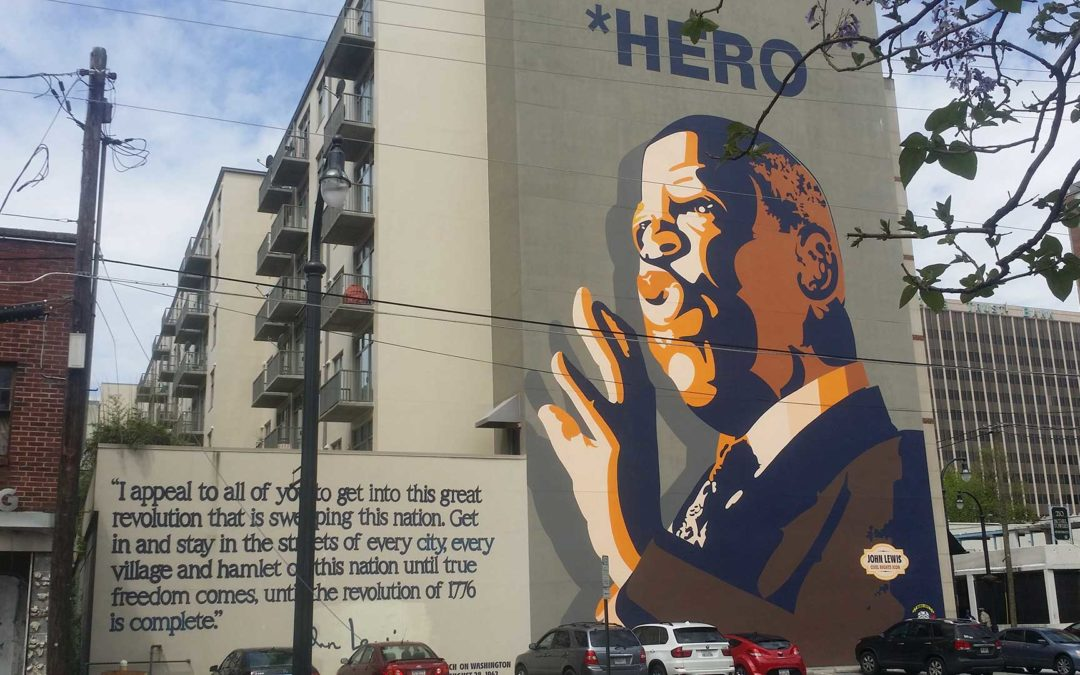 Monday's Monument: John Lewis Hero Mural, Atlanta, Georgia