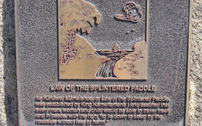 Monday's Monument: Kānāwai Māmalahoe Plaque, Honolulu, Hawai'i