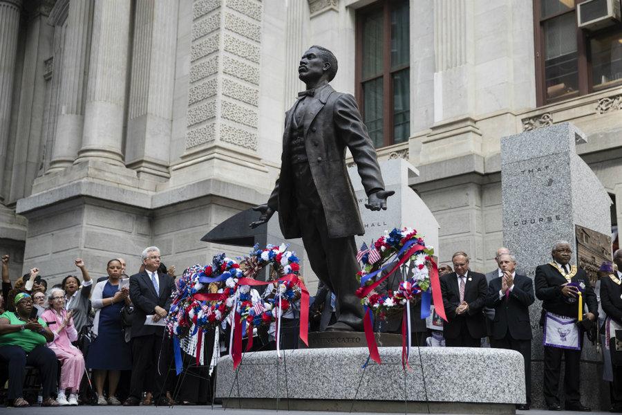 Monday's Monument: A Quest for Parity (Octavius Catto Statue), Philadelphia, Pennsylvania