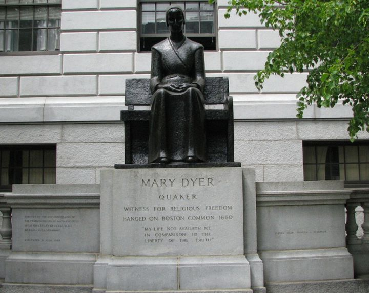 Monday's Monument: Mary Dyer Statue, Boston, Massachusetts