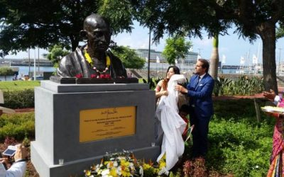 Monday's Monument: Gandhi Statue, Funchal, Madiera, Portugal