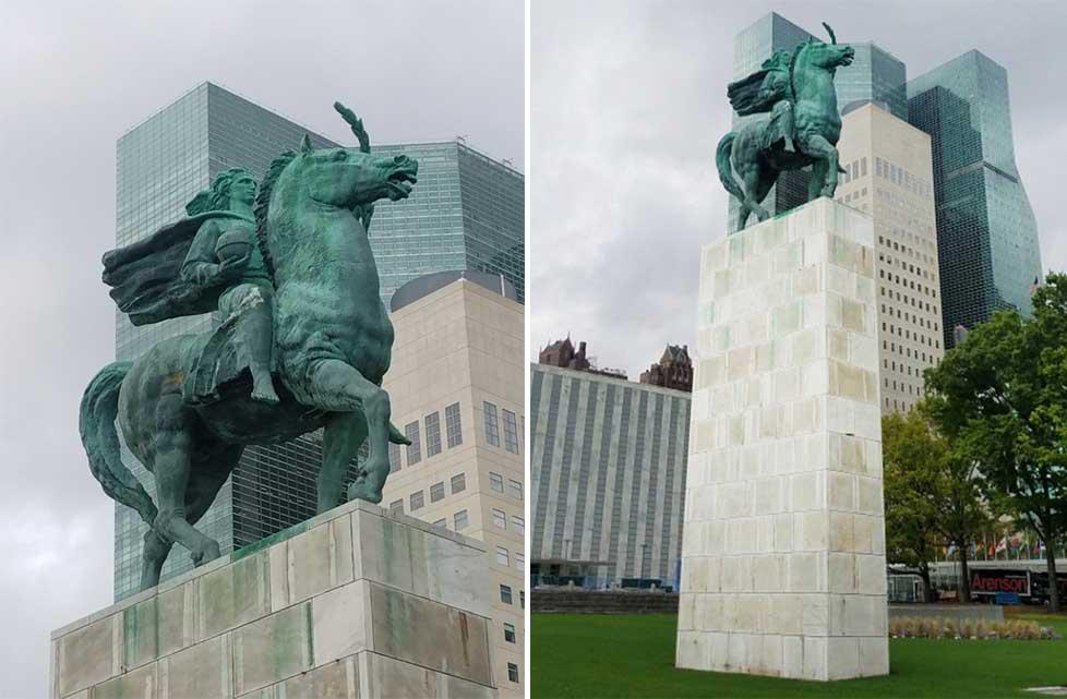 Monday's Monument: Herald of Peace, New York, New York