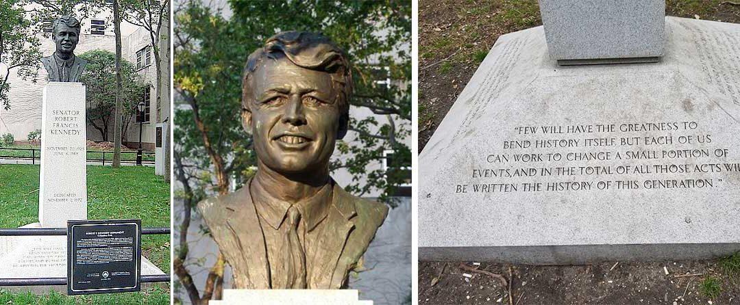 Monday's Monument: Robert F. Kennedy Bust, Brooklyn, New York