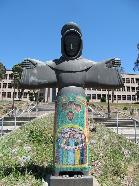 Monday's Monument: St. Francis of the Guns, 1968, San Francisco