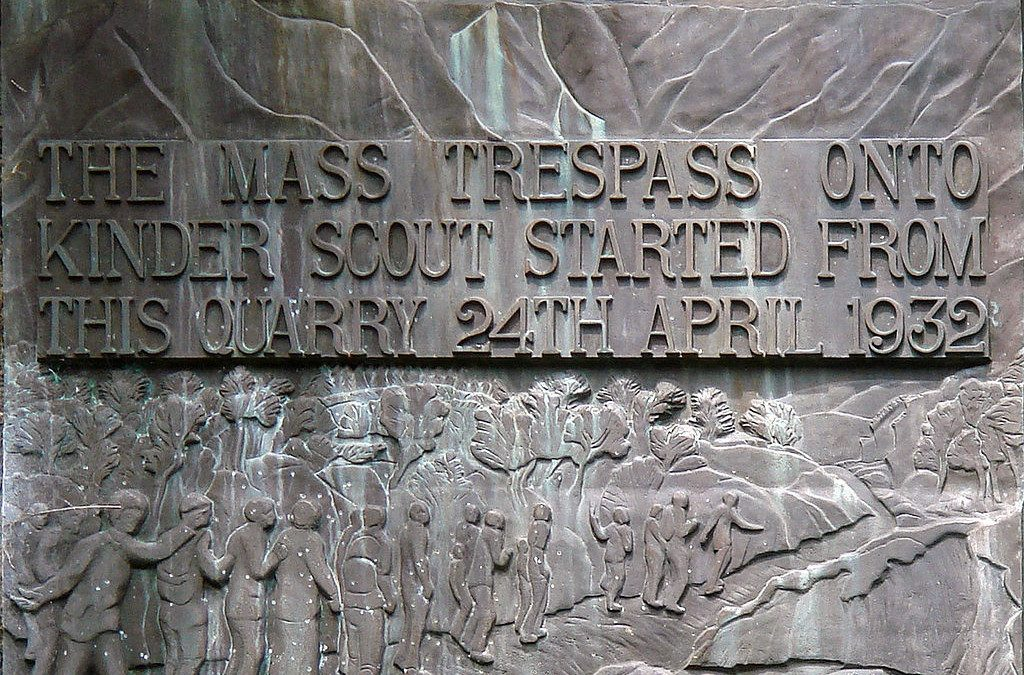 Monday's Monument:  Kinder Mass Trespass Plaque, near Hayfield, England