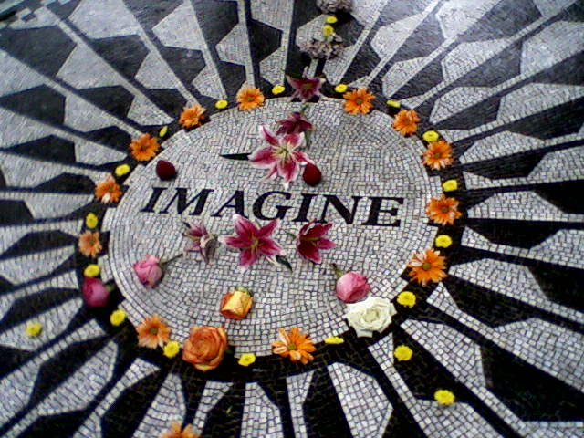 Monday's Monument: Strawberry  Fields, Central Park, New York