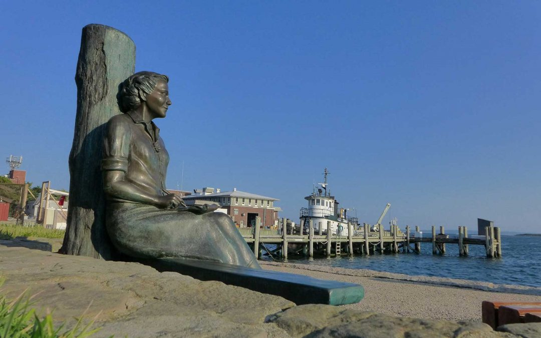 Monday's Monument: Rachel Carson Statues, Woods Hole, Massachusetts & Raleigh, North Carolina