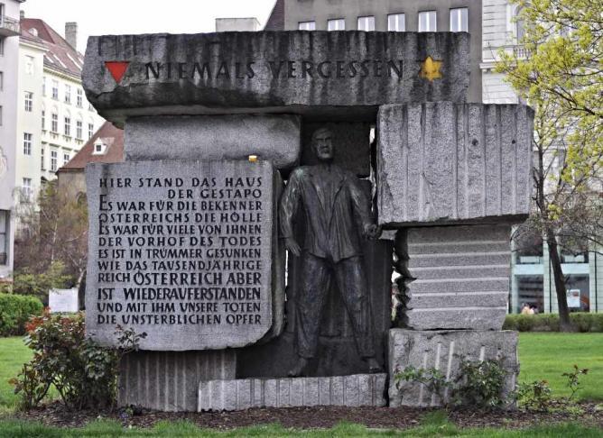 Monday's Monument: Monument for the Victims of Nazi Despotism, Vienna, Austria