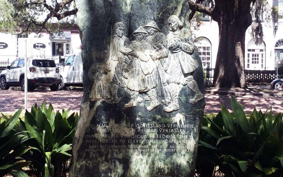 Monday's Monument: Salzburger Monument of Reconciliation, Savannah, Georgia