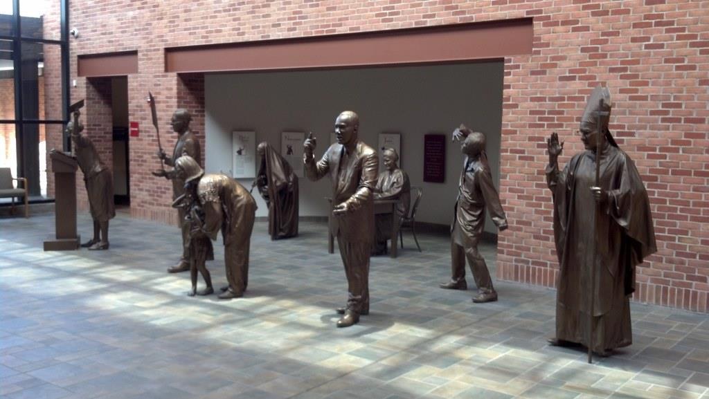 Monday's Monument: Beatitude Statues, Detroit, Michigan