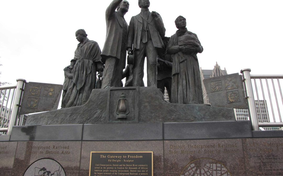 Monday's Monument: International Memorial to the Underground Railroad, Detroit, Michigan & Windsor, Canada