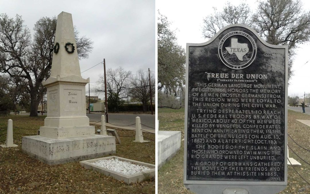 Monday's Monument: Treue der Union Monument, Comfort, Texas