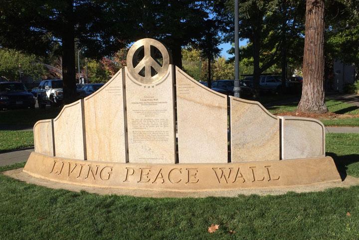 Monday's Monument: Living Peace Wall, Sebastapol, California