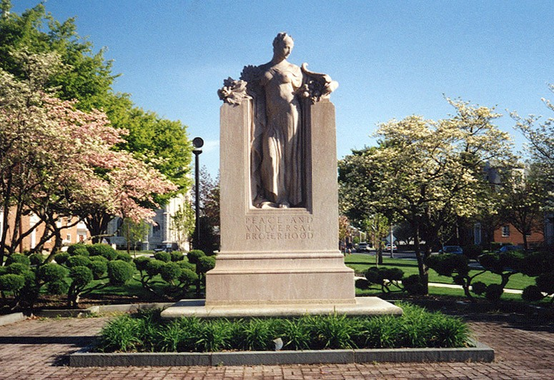 Monday's Monument: Elihu Burritt Memorial, New Britain, Connecticut
