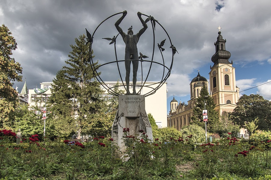 Monday's Monument: Multicultural Man Builds the World, Sarajevo, Bosnia and Herzegovina