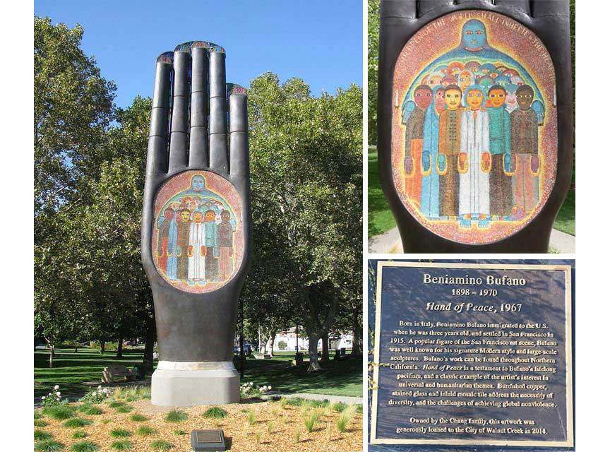 Monday's Monument: Hand of Peace, Walnut Creek, California
